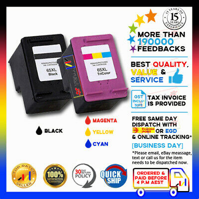 AU18.68 • Buy (NoN-OEM) BK & CLR Ink 65 XL For HP Deskjet 3720 3722 3730 2622 ENVY 5030 5020