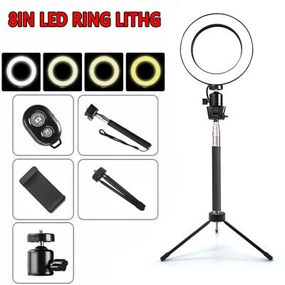 AU29.99 • Buy 8  LED Ring Light With Stand Dimmable LED Lighting Kit For Makeup Youtube Live