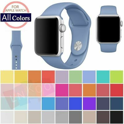 $ CDN4.95 • Buy Replacement Silicone Wrist Bracelet Sport Band Strap For Apple Watch 42mm 38mm
