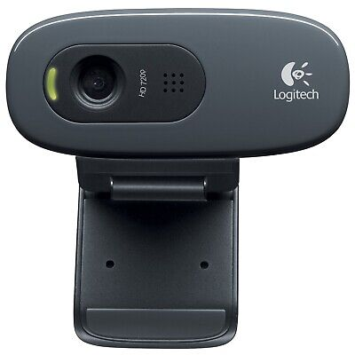 AU111.20 • Buy Logitech C270 720p Hd Usb Webcam Web Camera With Microphone Skype For Pc Mac