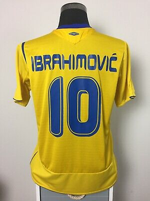 AU132.78 • Buy IBRAHIMOVIC #10 Sweden Home Football Shirt Jersey 2005/06 (L)