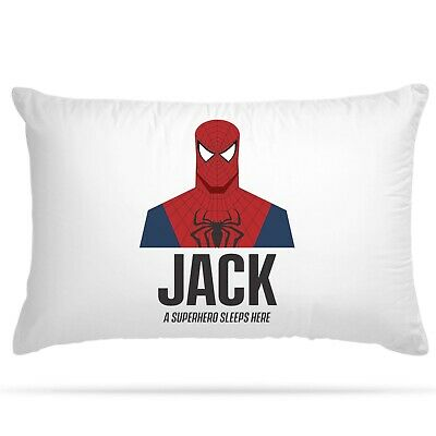 Personalised Superhero Pillowcase Cushion Cover Kids Home Children Bed Decor  • 7.99£