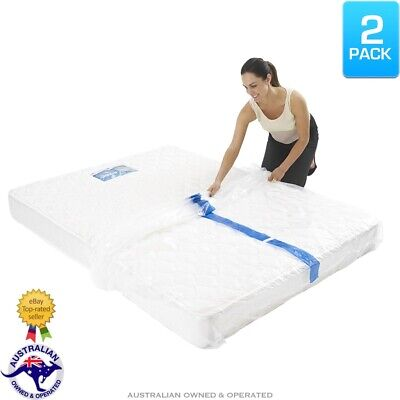 AU25.95 • Buy 2x Heavy Duty Mattress Protector Storage Bags King Queen Single Bed Moving Cover
