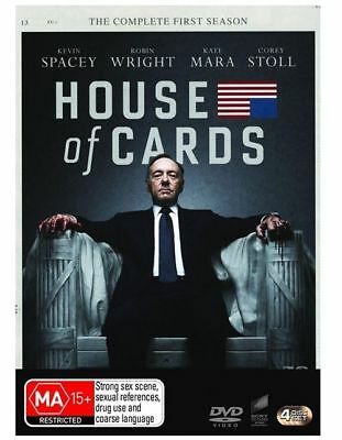 AU12 • Buy House Of Cards The Complete First Seasons DVD NEW Kevin Spacey Region 4