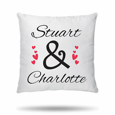 Personalised Cushion Cover Couple Valentines Anniversary Wedding Gift Him Her  • 6.99£