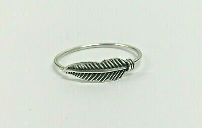 Sterling Silver 925 Large Feather Ring UK/US Sizes • 5.50£
