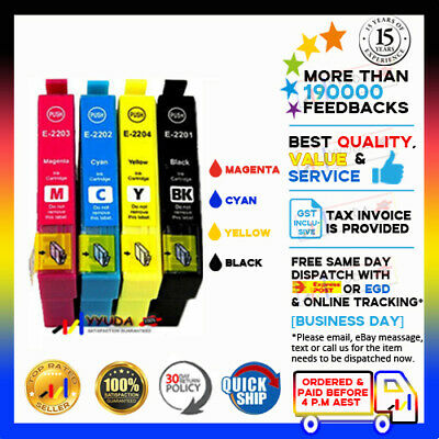 AU25.50 • Buy 10x NoN-OEM 220XL Ink For Epson XP-220 XP-320 XP-324 XP-420 WF-2630 WF-2650