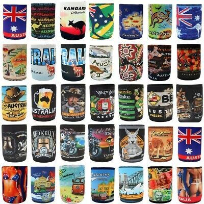 AU4.75 • Buy Stubby Holder Stubbie Can Beer Bottle Drink Cooler Australia Flag Funny Souvenir