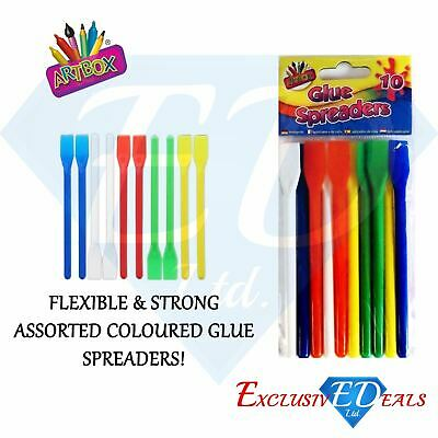 Plastic Glue Spreaders PVA Glue Paste Spatula Assorted Colours Pack Of 10 • 2.25£