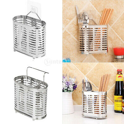 AU14.15 • Buy Stainless Steel Cutlery Caddy Utensil Holder Kitchen Chopsticks Organizer