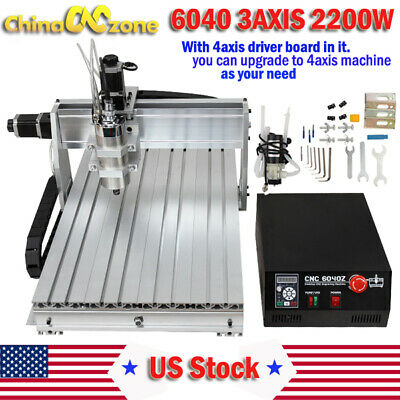 $1999 • Buy CNC 6040 2200W 3Axis Mach3 USB Router Engraving Cutting Drilling DIY Machine US