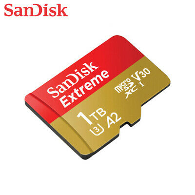 $361.56 • Buy SanDisk 1TB Extreme A2 V30 UHS-I U3 MicroSDXC Card 160MB/s Action Cam 4K Video