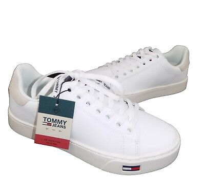 Scarpa Uomo Tommy Hilfiger In Pelle Bianco Shoes 40 41 42 43 44 45 • 90.00 09d09752aa3