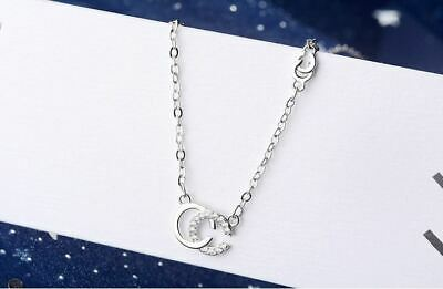 £3.99 • Buy Double C Pendant 925 Sterling Silver Chain Jewellery Necklace Women's Love Gifts