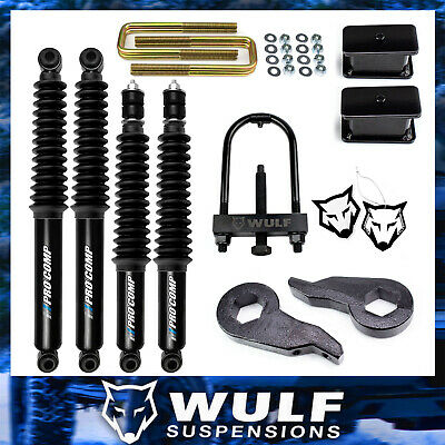 $469.94 • Buy 3  Lift Kit W/ Pro Comp Shock For 2001-2010 Chevy Silverado Sierra 2500HD 3500HD