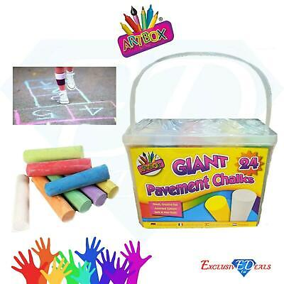 £6.95 • Buy Pack Of 24 Giant Chalks Artbox Pavement Games Child Creative Fun Crosses Outdoor