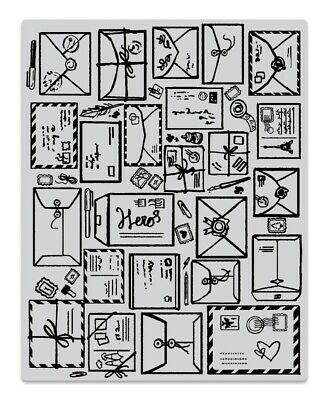 $10.95 • Buy Hero Arts  MAIL JUMBLE  Background Cling Basic Grey Rubber Stamp 2019