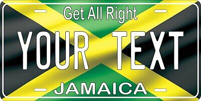 Jamaica Flag License Plate Personalized Car Auto Bike Motorcycle Custom Tag • 12.09£