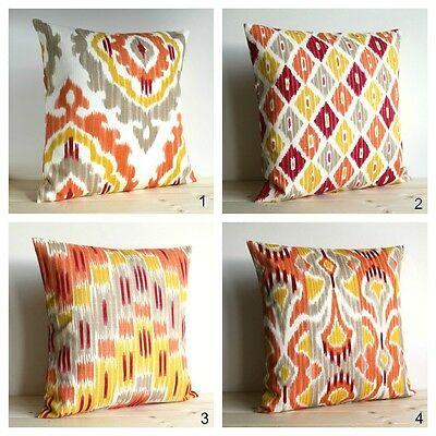 Ikat Cushion Cover, Made In UK, 100% Cotton • 12.65£