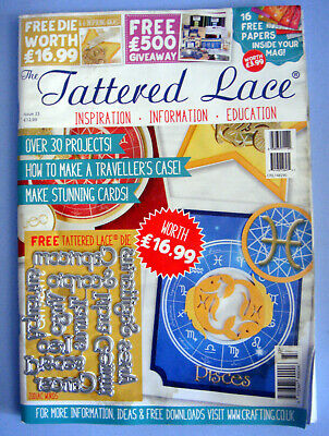 Tattered Lace Magazine Issue 33 With Papers And Die Zodiac Words New Sealed • 5.50£