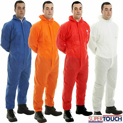 £18.99 • Buy Supertex SMS Disposable Overall Suit Hood Paint Spraying Coverall Food Process