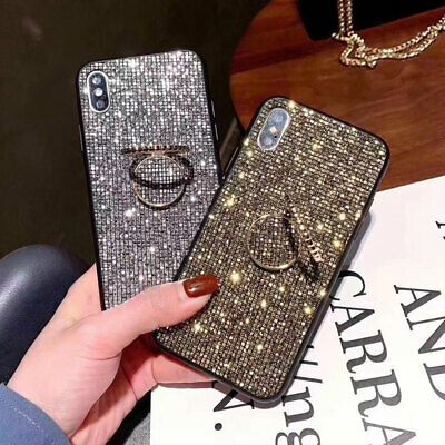 AU5.89 • Buy Fashion Luxurious Glitter Square Diamond Ring Stand Case Cove For Various Phone