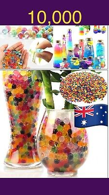 AU13.90 • Buy 10mm Orbeez Water Crystal Balls Expanding Jelly Wedding Home Garden Soil Outd