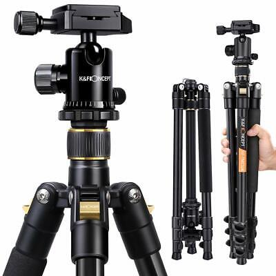 AU109.99 • Buy K&F Concept Camera Tripod For DSLR Camcorder Ball Head Free Quick Release Plate