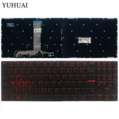 AU55.99 • Buy For Lenovo Legion Y7000 Y7000P Y530 Y530P Y530-15ICH US Keyboard RED Backlight
