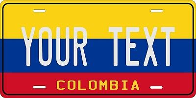 Colombia Flag License Plate Personalized Car Auto Bike Motorcycle Custom Tag • 12.09£
