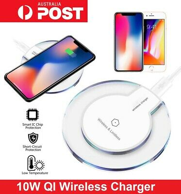 AU7.95 • Buy Universal QI Wireless Charger Charging Pad Mat For IPhone Samsung Google