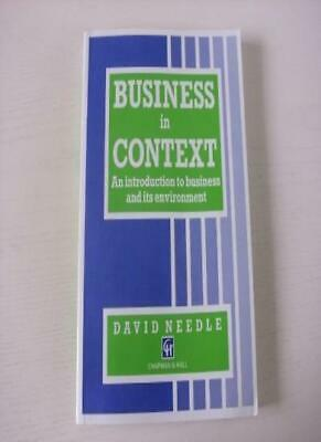 Business In Context: An Introduction To Business And Its Envir ..9780412437601 • 3.27£