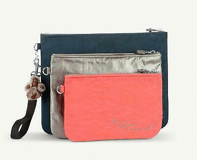 £32.99 • Buy Kipling Iaka Set Of 3 Toiletry / Make Up Bags / Pouches With Wristlet, New
