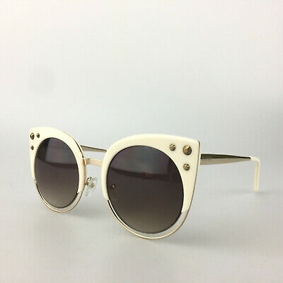 7d38b5fc2a Balmain Sunglasses BL 2510 03 White Gold Cat Eye Designer Shades Made  France • 99.74