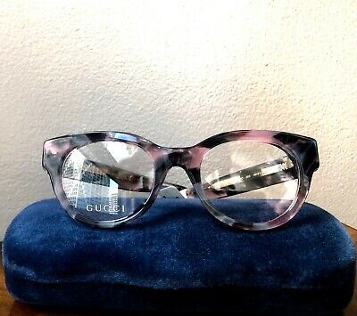 4f9108aad19 NWT GUCCI Optical Cat Eye Lilac Violet Havana STAR Embellished Glasses RX  Ready • 259.99