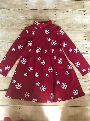 0a60eefd93776 Gymboree Penguin Chalet Girls Size 7 Red Snowflake Dress EUC • 14.99$