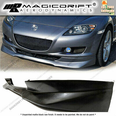 $107.99 • Buy For 04-08 Mazda RX8 SE3P RE Style Front Bumper Chin Spoiler Lip Urethane
