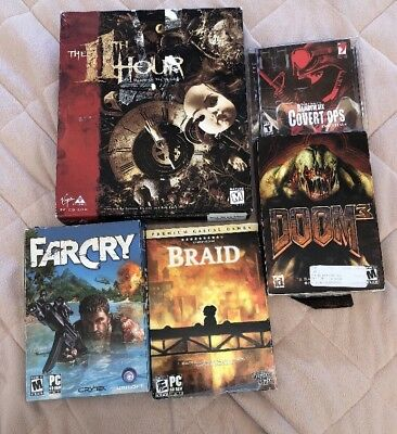 AU31.56 • Buy PC CD ROM Computer Games (Lot Of 5) Braid, FarCry, Doom 3, The 11th Hour, More