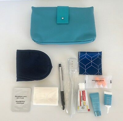 AU58.99 • Buy Air France First Class Airline Travel Dopp Kit Pouch With Accessories, Turquoise