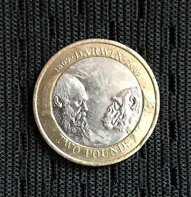 £100 • Buy VERY RARE Charles Darwin 2009 £2 Two Pound Coin