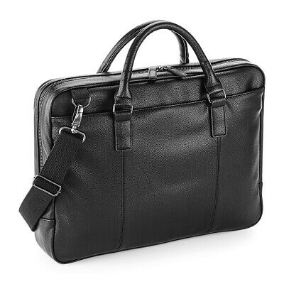 NuHide Slimline Laptop Bag Briefcase Bag Faux Leather Mens Womens Business Bags • 30.69£