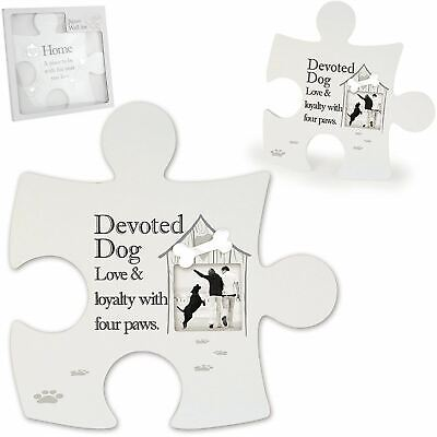 £14.89 • Buy Said With Sentiment Dog Love Jigsaw Photo Frame Wall Art Pet Lover Gift Idea
