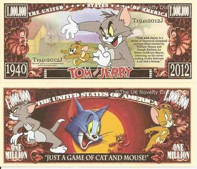 £1.99 • Buy Tom And Jerry Just A Game Of Cat And Mouse Million Dollar Bills X 2 Cartoon