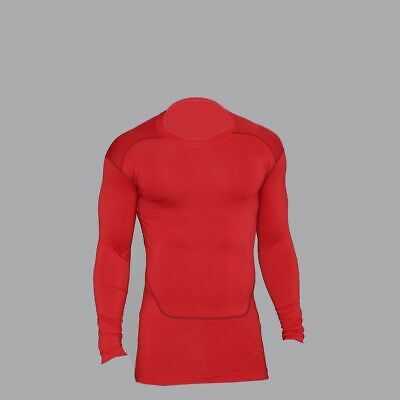 Mens Compression Armour Base Layer Top Long Sleeve Gym Thermal Sports Shirt • 8.99£