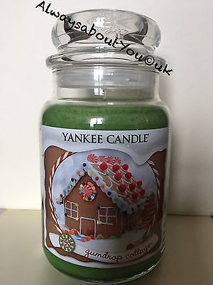 Yankee Candle Gumdrop Cottage 22oz Large Jar - Rare USA - Christmas - Deerfield • 32.99£