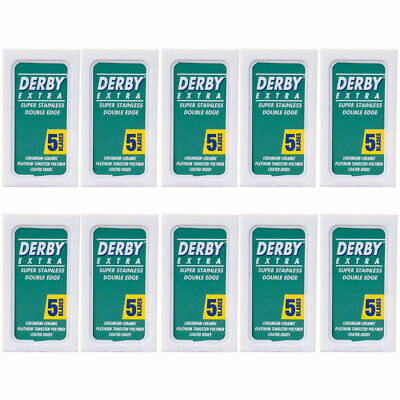 AU8.98 • Buy Derby Extra Double Edge Blades (50) DE Safety Razor (10 X 5) BARBER SALON