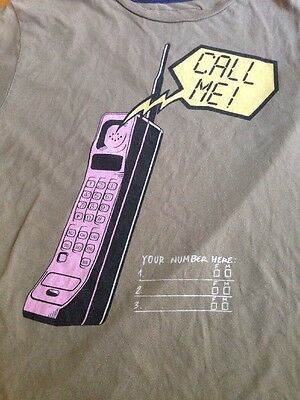 AU22.35 • Buy Zara MAD Collective Vintage 80s Cell Phone Call Me Graphic T-Shirt Womens M
