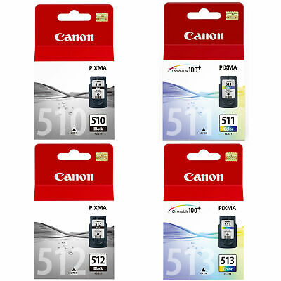 Canon PG510 CL511 PG512 CL513 Black Colour Ink Cartridge For PIXMA MP230 Printer • 16.49£