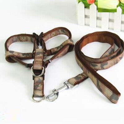 £3.99 • Buy Camouflage Dog Harness Leash Set Dogs Leads For Puppy Walking -Brown,size 4