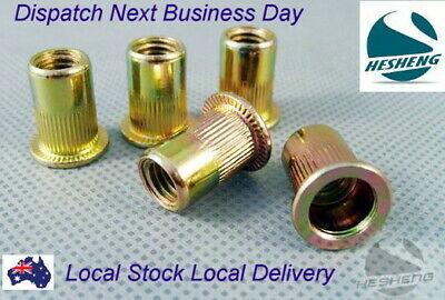 AU5.80 • Buy Qty 10 M6 Large Flange Nutserts Zinc Plated Steel Rivet Nut Rivnut Nutsert